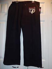 61106-3 WOMENS Ladies WASHINGTON REDSKINS Football Jersey SWEATPANTS BLACK New