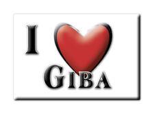 CALAMITA SARDEGNA ITALIA FRIDGE MAGNET MAGNETE SOUVENIR I LOVE GIBA (CA)--