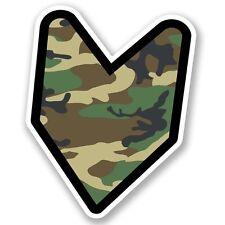 2 X Wakaba Hoja Militar Camuflaje Pegatina de vinilo Laptop Viaje Equipaje Coche #5598