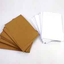 A6 Kraft Card, White, Black, 200GSM, 220GSM, 235GSM, Wedding, Table, Invitations