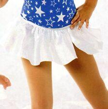 NWT SILVER HOLIGRAM  FOIL TAP SKIRT CHILD SIZES DANCE SLIP ON JAZZ PULL UP