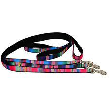 NYLON LEAD Dog Pet Leash Mosaic with black webbing lining