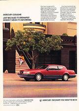 1987 Mercury Cougar - Stoop - Classic Vintage Advertisement Ad D74