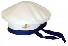 Sombrero Azul Unisex Marinero Capitán Gorra Disfraz Elaborado Vestido Navy Marine Mar Ancla