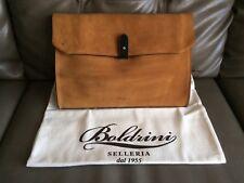 Boldrini Selleria Genuine Florentine Vacchetta  Italian Leather/Suede Clutch/Bag