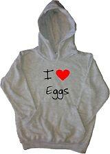I Love Heart Eggs Kids Hoodie Sweatshirt