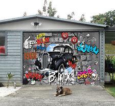 3D Auto E Graffiti Garage Porta Stampe Parete Decorazione Murale AJ WALLPAPER IT
