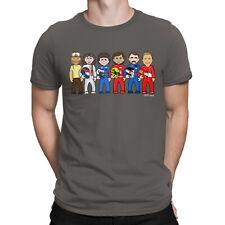 Mens VIPwees T-Shirt Formula 1 Legends F1 Motorsport Racing Caricature Gift Top
