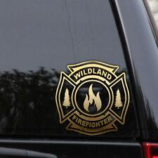 Wildland Firefighter Decal Sticker Maltese Cross Fire Car Truck Window Laptop