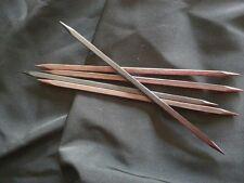 "Prestige Square Wooden Ebony Double Point Wood Knitting Needles- 7"" - Set of 5"