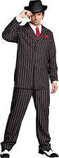 Gangsta Adult Men's Costume Black White Gangster Zoot Suit Mob 20s 1920s