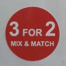 POS promotional sale sticker, 3 FOR 2 sticky label