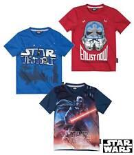 nouveau t-shirt garçons STAR WARS manches courtes rouge bleu gris 116 128 140