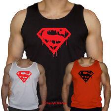 Músculo Culturismo Entrenamiento Gimnasio MMA Power-Super Héroe hemorragia-Chaleco-S-XXL