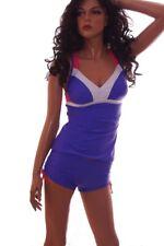 Womens REEBOK Tankini Shorts Swim Bathing Suit Purple Pink White S M L 6 8 NEW