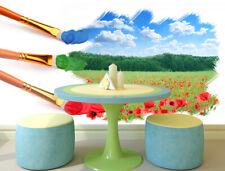 3D Paysage Encre 2 Photo Papier Peint en Autocollant Murale Plafond Chambre Art