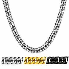 Herren Halskette aus Edelstahl Panzerkette mit /ohne Armband gold silber schwarz