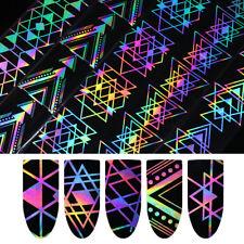 Holographisch Nagel Folie Laser Effekt Geometrisch Dreieck Transfer Aufkleber