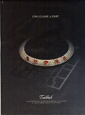 PUBLICITE ADVERTISING   1988   TABBAH    bijoux joaillerie  une classe à part