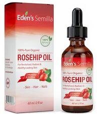 A 100% Pure Rosehip Oil 60ml Certified ORGANIC Revitalises Skin & Hair