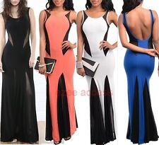 SeXy Women Plus Size Sheer Mermaid Open Backless Long MaXi Prom Dress SML,1X2X3X