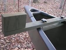 Canoe trolling motor mount - Solid Ash - Olive Drab Finish