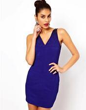 LIPSY Bleu Sequin Moulant Bandage Mini Robe De Soirée Femmes UK Tailles 10 12,38