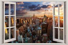 Autocollant Mural Fenêtre 3D City NEW YORK Stickers muraux STICKER 31