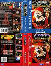 Sub TERRANIA SEGA Mega Drive & Genesis PAL Caja De sustitución Cubierta Estuche De Arte Insertar
