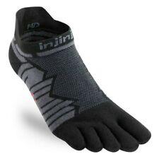 Injinji Ultra Run No-Show Five Finger Running Toe Socks Onyx