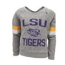 LSU Tigers Official NCAA Kids Youth Girls Sweatshirt Style Sheer Shirt New Tags
