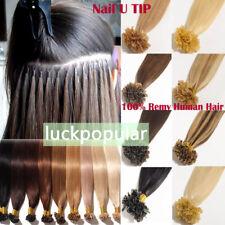 "Pre Bonded Nail U Tip Keratin Fusion Remy Brazilian Human Hair Extensions 16/26"""