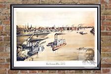 Vintage La Crosse, WI Map 1873 - Historic Wisconsin Art Old Victorian Industrial