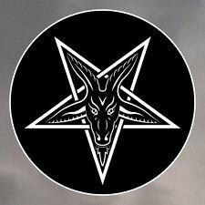 Pentagram Stickers - Various Sizes Available - Baphomet Pentacle Satan 0066