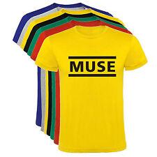 Camiseta Muse banda de rock Hombre varias tallas y colores a049