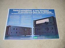 Sansui AU-717, AU-517, TU-717 Ad, 1978, 2 pages, RARE!