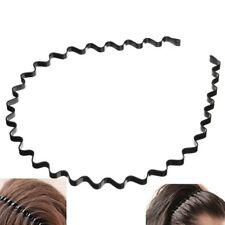 Hommes Femmes Metal Sport Biker Hairband Vague Cheveux Bande Capuche Bandeau