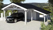 NEU Premium Carport 6.00 x 9.00 mit Geräteraum 33% Onlinerabatt Carport ab Werk