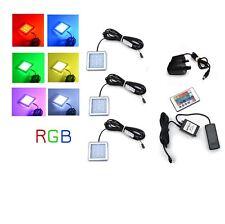 RGB LED Color Changeable Under Cabinet Shelf Down Light Square Kit/Set
