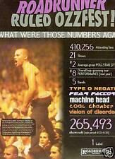 TYPE O NEGATIVE Fear Factory etc 1997 OZZFEST Promo Ad