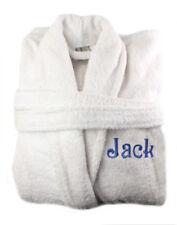 Personalised White Toweling Bathrobe Bath Robe 550 GSM 100% Egyptian Cotton Uni