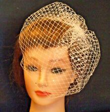 Birdcage veil Ivory White Black Wedding Veil  #Bridal Blusher wedding fascinator