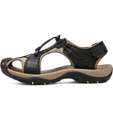 Mens Hot Fisherman Beach Anti-slip Shoes COW Leather Sandals Hiking Sandal Flat