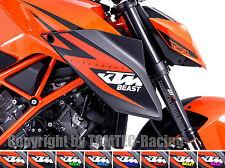 2x BEAST Aufkleber Sticker Motorrad Supermoto KTM SuperDuke SD 1290 990 RC8 1190