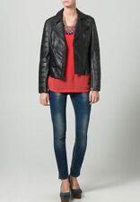 Women Leather Jacket Soft Solid Lambskin New Handmade Motorcycle Biker S M # 43