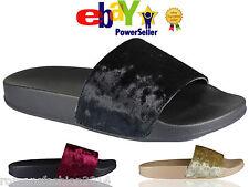 Ladies Slip On Size Flat Farrah Rubber Slider Mules Girls Slipper Rihanna Sandal