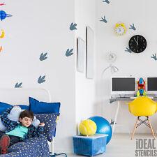 Dinosaur Footprints Stencil Boys Bedroom Decoration Home Decor Reusable