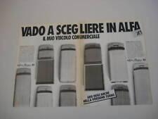 advertising Pubblicità 1985 ALFA AR6 AR 6 - AR8 AR 8