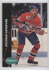 1991-92 Parkhurst #307 Sylvain Lefebvre Montreal Canadiens Hockey Card