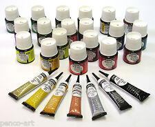 Pebeo Vitrail transparent glass paint 45ml bottle in 18 colours + Cern outliner